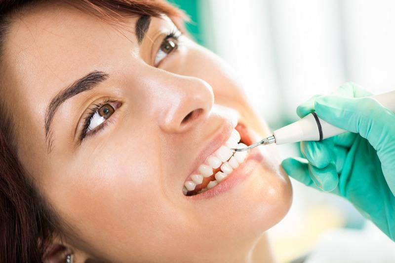 Woman receiving dental care