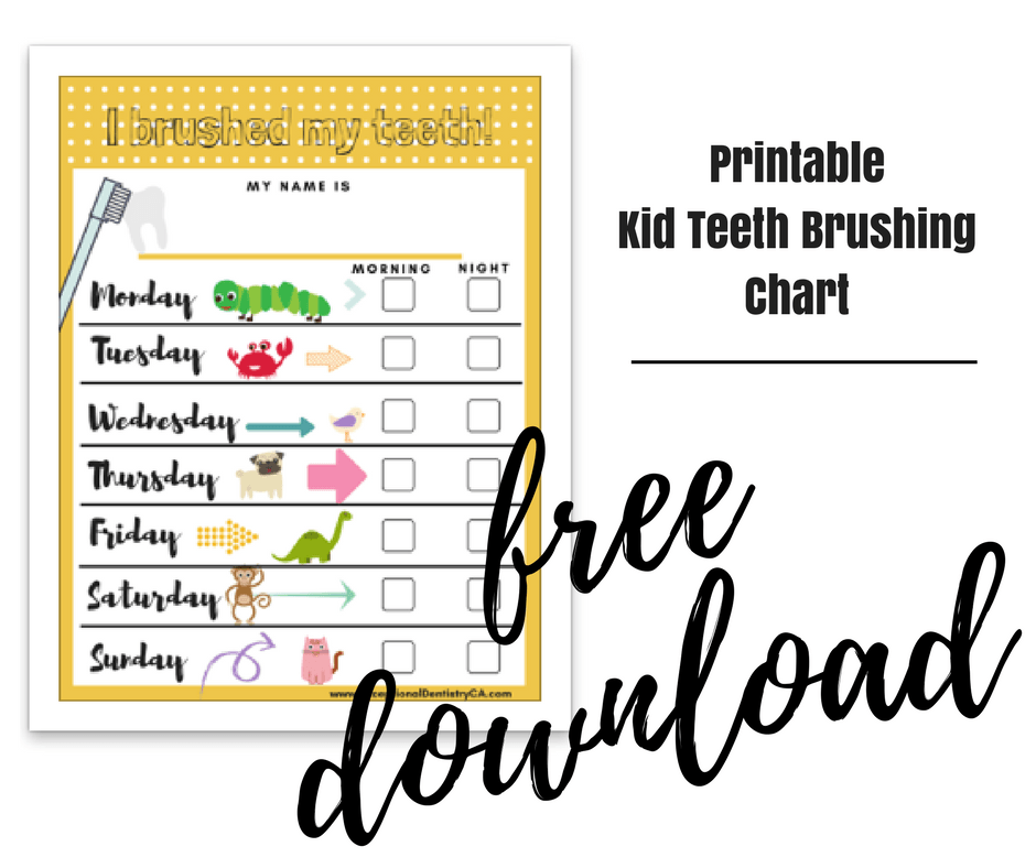 photograph regarding Printable Tooth Brushing Charts titled cost-free printable little one tooth brushing chart - Outstanding Dentistry